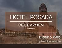 Diseño web + Posicionamiento | Hotel Posada del Carmen