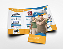 Products Catalogs Tri-Fold Brochure Template
