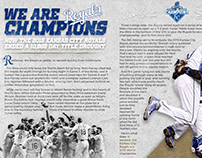 Personal Practice: Article Spread, Royals World Series
