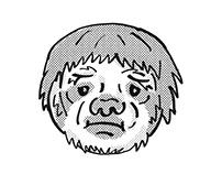 Sloth Endangered Wildlife Cartoon Mono Line Drawing