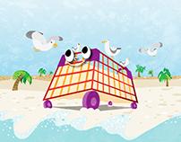 Children's illustration: Mr. Trolley Adventurer