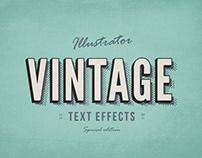 Free* 3 Illustrator Vintage Text Effects