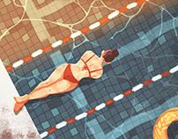 Summer swimming 夏日泳池系列