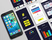 UI - UX design Hashtrack's app prototype