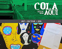 Sticker series for Cola Aqui!, 2015