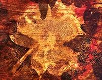 maple leaf series - Oil/wood 12x12x1