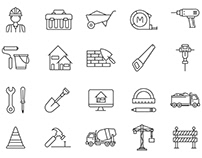 80 Constructions Vector Icons