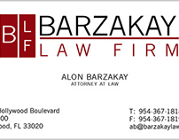 BIG AL - Barzakay Law Firm Business Card