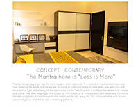 "CONCEPT – CONTEMPORARY  The Mantra is ""Less is More"""