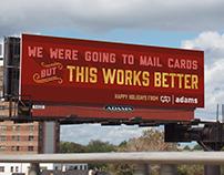 Adams+Fairway Holiday Self-Promo Billboard Campaign