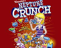 Veronica's Neptune Crunch Cereal Box Tee Design