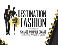 Destination Fashion 2016 event invite & RSVP card