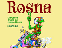 Rosna, meant to be a satire of Vespa