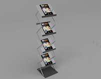 Magazine Display Stand Mockup