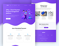 SmartPay- UI/UX Design   Payment Landing Web Page