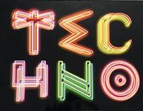 TECHNO- Tipografía como imagen