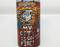 Layout Design - My City is on Fire Beer Can Label