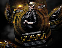 Golden Night Flyer Template