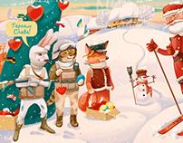 New Year postcard 2015