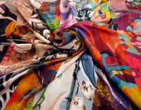 SILK SCARVES. Seamless pattern