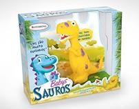 Criação Embalagem Brinquedo Baby Sauros