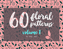60 Floral Vector Patterns vol. 1 for Sale