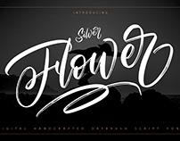 Silver Flower - Drybrush Script Font