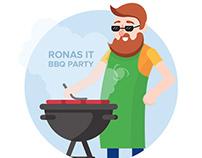 BBQ Party Illustration for Social Media