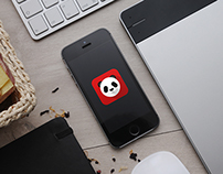 Panda flat logo
