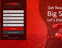 Hydra Dialer Web Application UI Deisgn