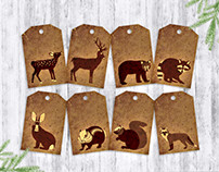 Rustic Woodland Gift Tags