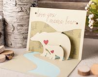 Mama Bear Pop-up Card
