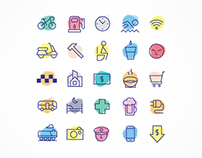 FREE TRAVEL-ICONS