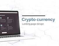 Crypto currency landing page design