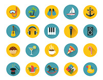 110 Flat Icons Bundle