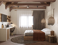 Warm bedroom House CZ
