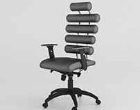 Chair 3D Animation. Realistic 3D Visualization