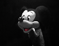 Rat wears Mickey mask