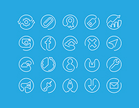 Outline animated icons