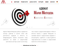 Maria Miluscheva website design