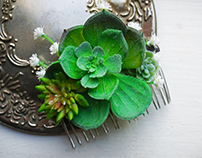 Hand Made Succulent floral for Wedding