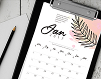 Calendar 2017 - Free Download