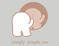 Simply Simple Me Exhibition Promotional Art