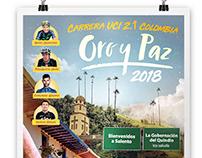 Afiche Carrera UCI 2.1 Oro y Paz