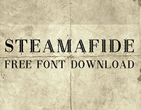 STEAMAFIDE: Free Font Download