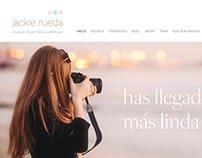 Jackie Rueda Photography. Website design