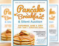 New Era Youth Dept Pancake Breakfast Fundraiser
