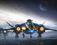 Aegis Vanguard Concept Art Star Citizen