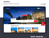 Global Real Estate Investment Property Web&Mobil Design