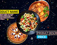 4K Restaurant Product Promo